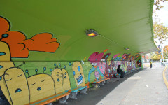 Global Kids transform bus shelter