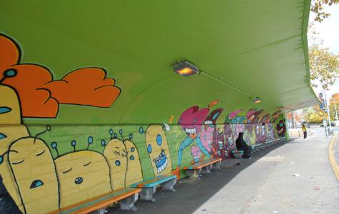 Global Kids transform bus shelter