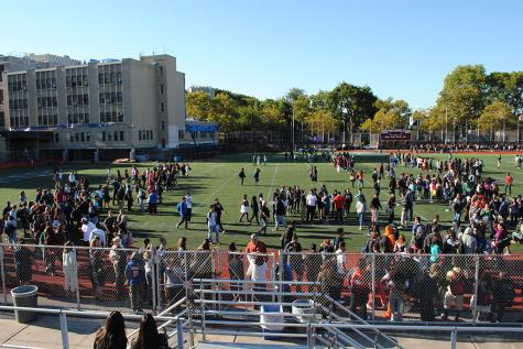 Evacuation drill interferes with testing schedule