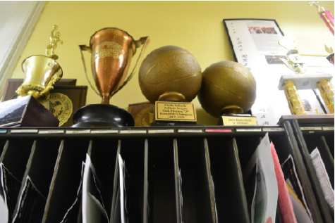 A variety of Curtis' trophies call these mailboxes their home.
