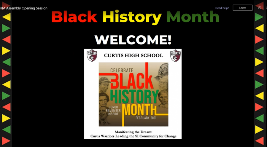The First Virtual Black History Month Assembly